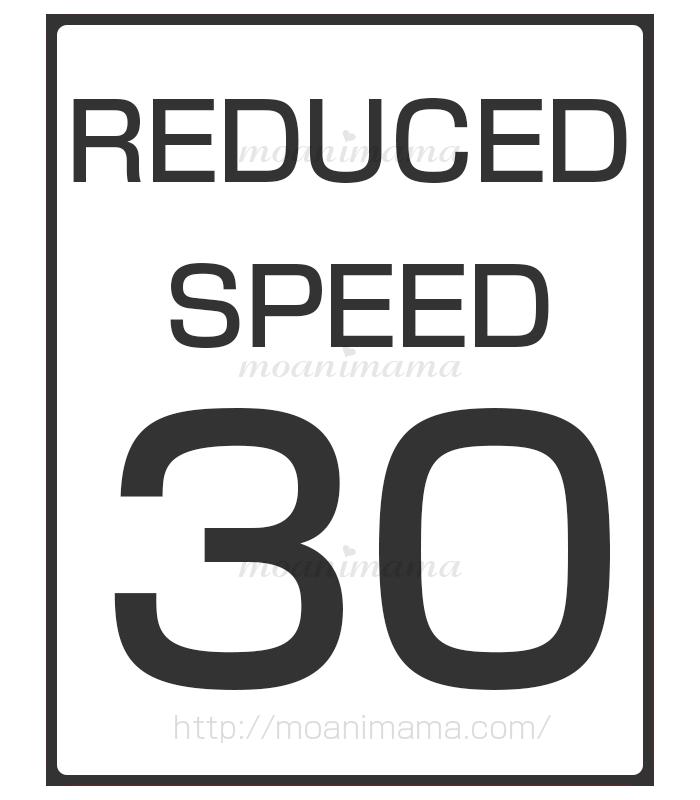 30マイル(時速約48km)に速度を減速