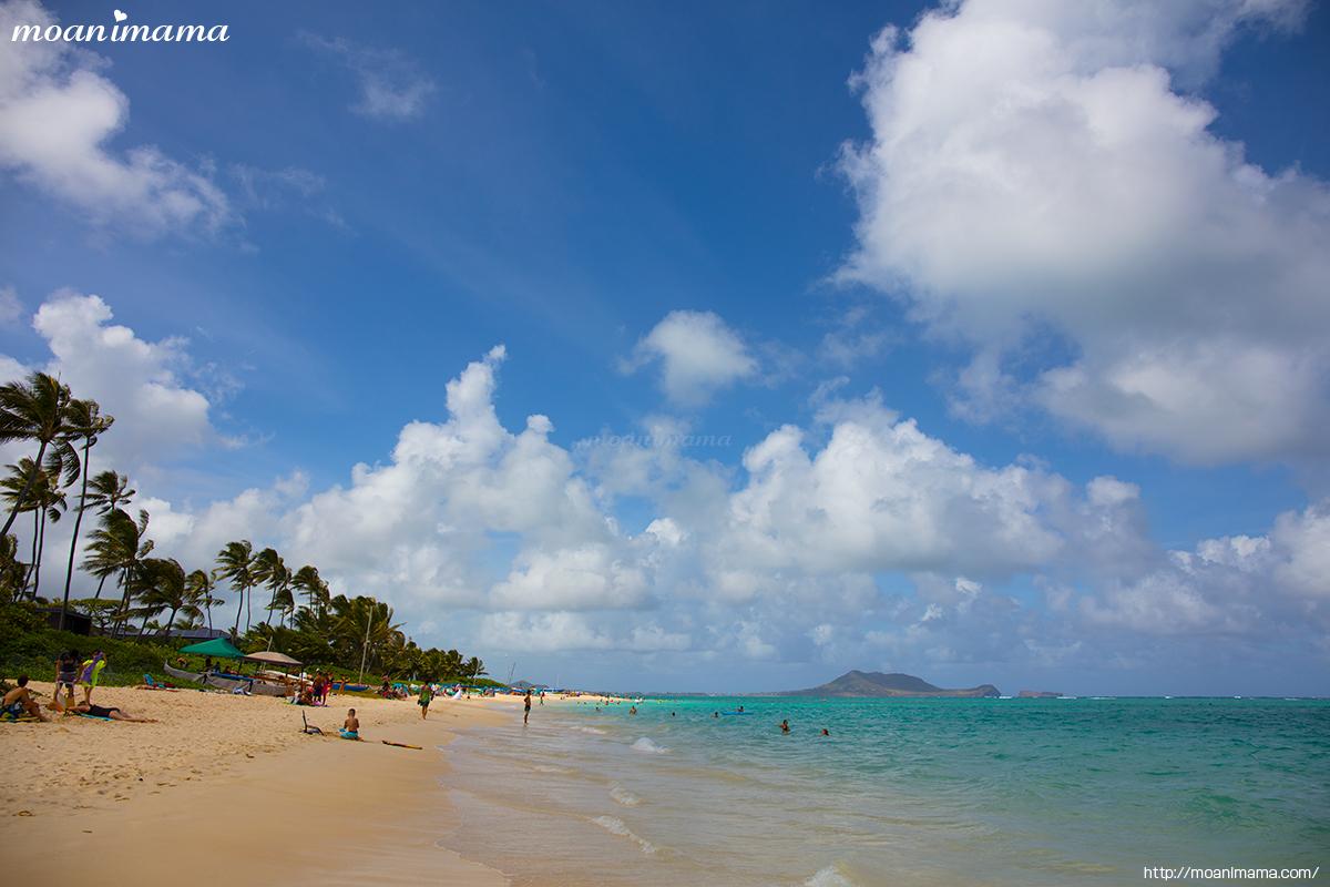 ラニカイビーチ( Lanikai Beach )カイルア観光全米No1に輝いたの天国の海